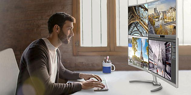 Philips 4K monitor met MultiView